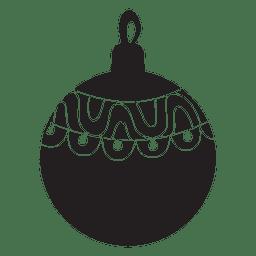 Christmas ball pattern silhouette 147