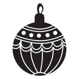Christmas ball pattern silhouette 148