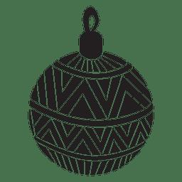 Bola de navidad patrón silueta 149