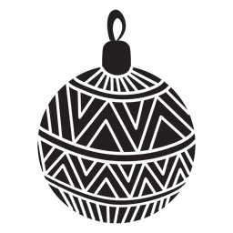 Christmas ball pattern silhouette 149