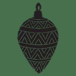 Bola de Navidad patrón silueta 170