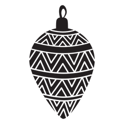 Christmas ball pattern silhouette 170