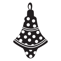 Christmas ball pattern silhouette 190