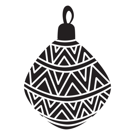 Christmas ball pattern silhouette transparent png