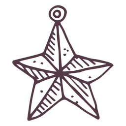 Christmas ball star shape hand drawn icon 35