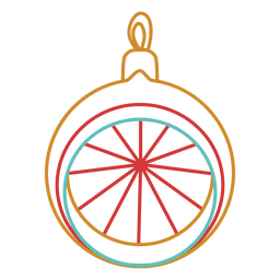 Christmas ball stroke icon 02