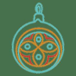 Icono de golpe de bola de Navidad 03