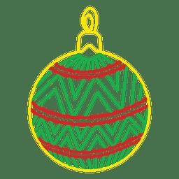 Icono de golpe de bola de Navidad 204