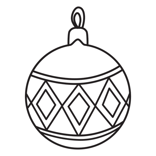 Christmas ball stroke icon 221 - Transparent PNG & SVG vector