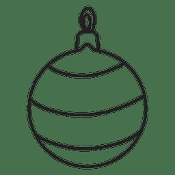Icono de golpe de bola de Navidad 225