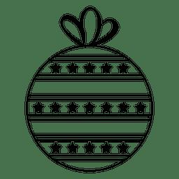 Icono de golpe de bola de Navidad 33