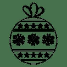 Christmas ball stroke icon 39