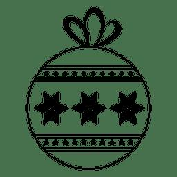 Christmas ball stroke icon 41