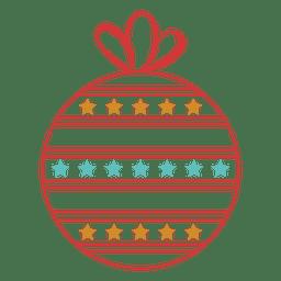 Christmas ball stroke icon 43