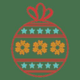 Christmas ball stroke icon 44