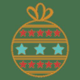 Icono de golpe de bola de Navidad 45