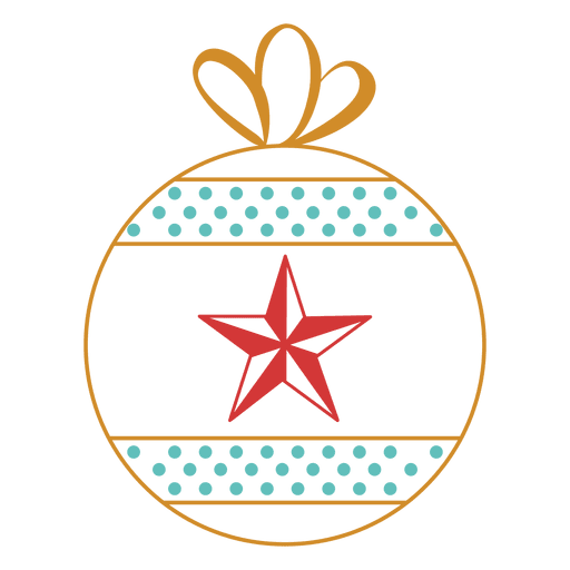Christmas Ornament Stroke  Transparent PNG