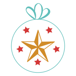 Christmas ball stroke icon 47