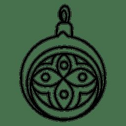 Icono de golpe de bola de Navidad 53