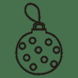Icono de trazo de bola de Navidad