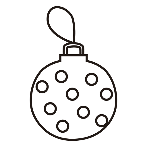 Christmas Ball Stroke Icon Transparent PNG