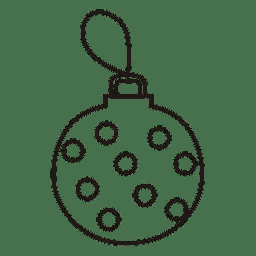 Icono de trazo de bola de Navidad Transparent PNG