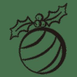 Christmas ball stroke icon 61