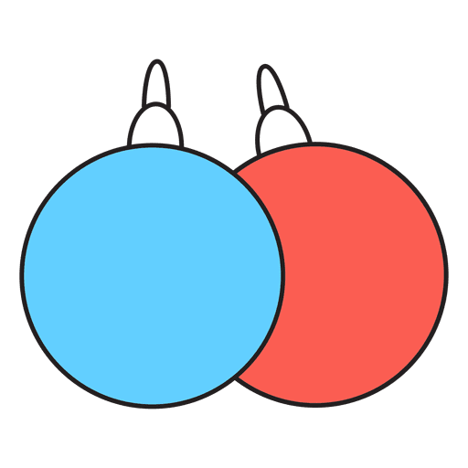 Christmas balls cartoon icon 52
