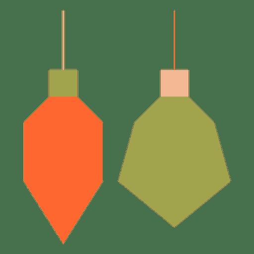 Bolas de Natal ícone plana 62 Transparent PNG