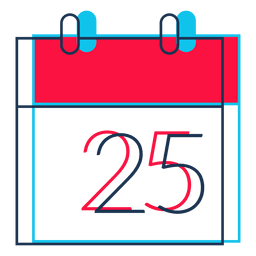 Christmas day calendar cartoon icon 31