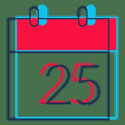 Ícone de desenhos animados de calendário de dia de Natal 31