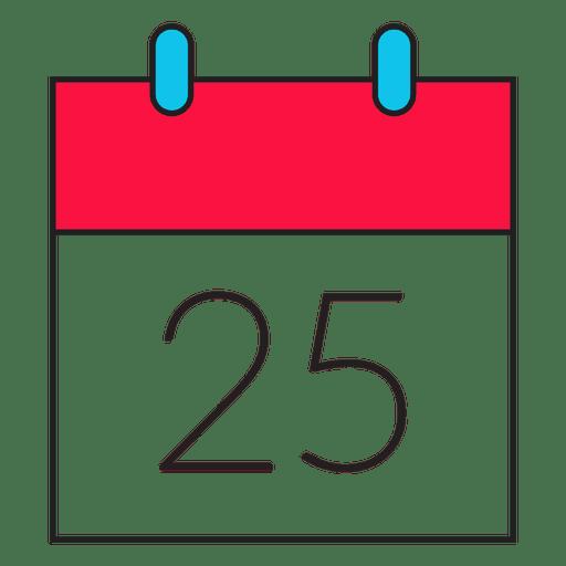 Icono de dibujos animados de calendario de día de Navidad 47
