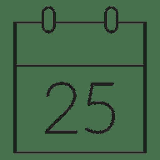 Icono de trazo de calendario de día de Navidad 77