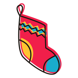 Christmas stocking cartoon icon 14