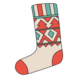 Christmas stocking cartoon icon 24