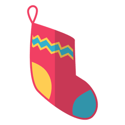 Christmas stocking flat icon 11