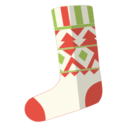 Christmas stocking flat icon 12