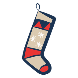 Christmas stocking illustration icon