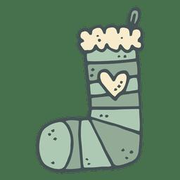 Meia de Natal mão desenhada cartoon ícone 29