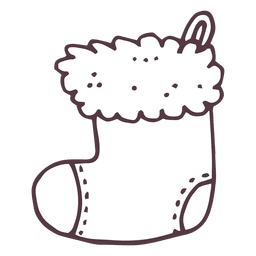 Christmas stocking hand drawn icon 10