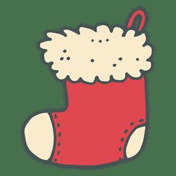 Christmas stocking hand drawn icon 35