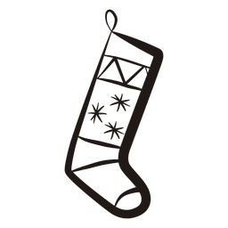 Christmas stocking stroke icon 55