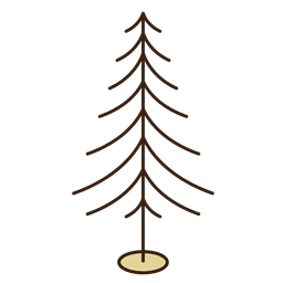 Christmas tree branches stroke icon 10