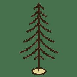 Ícone de traçado de ramos de árvore de Natal 10