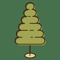 Christmas tree bubble cartoon icon 13