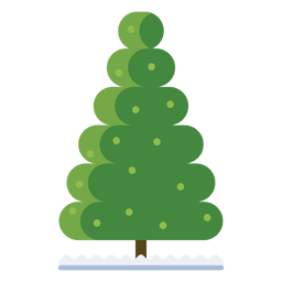 Christmas tree bubble icon 34