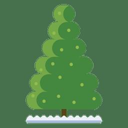 Navidad icono de la burbuja del árbol 34