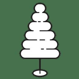 Christmas tree bubble stroke icon 25