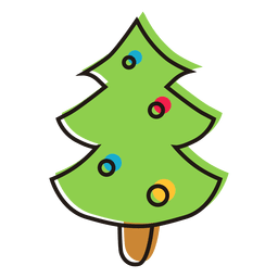 Christmas tree cartoon icon 15