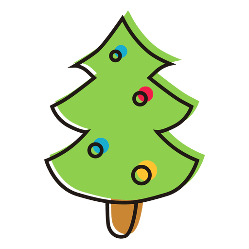 christmas tree cartoon icon 15 transparent png svg vector file christmas tree cartoon icon 15